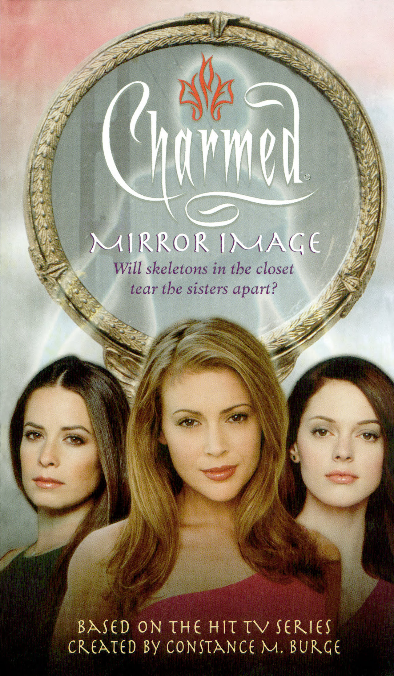 Charmed Inspired TV Show Cameo Necklace  Piper Phoebe Prue Paige Halliwell Power 3 P3 Witches
